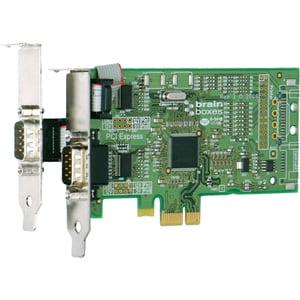 2PORT PCIE 1+1XRS232 LOW PROFILE PX-101 1MBAUD