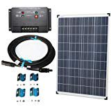 Plug n Power 100w Solar Panel Charging Kit for 12v Off Grid Battery next day from U.S.