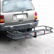 "Arksen Folding Cargo Carrier Luggage Basket 2"" Receiver Hitch 60"""