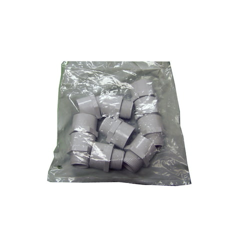 3/4'' SCH 40 PVC Male Adapter (slip x mip) 10 pack by Genova Products Sch 40 Pvc Male Terminal
