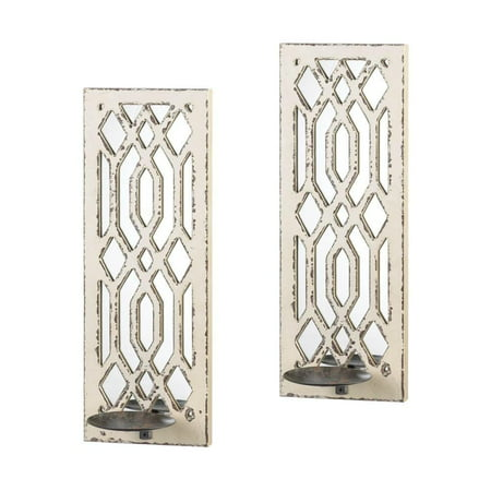 Deco Mirror Wall Sconce Set  - image 2 of 2