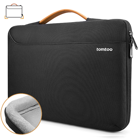 tomtoc 360 Protective Laptop Sleeve Fit 13.3 inch Old MacBook Air, Old MacBook Pro Retina 2012-2015, Notebook Bag Briefcase for 13 inch HP Envy, Spectre x360, Lenovo IdeaPad 900 700 300 01 Notebook Case
