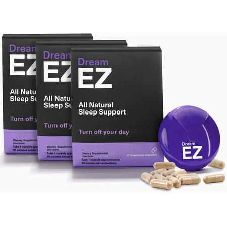 Dream EZ Melatonin 10mg Extra Strength, Sleep Vitamin, Valerian, Lemon Balm, Insomnia Relief | 36 CT - image 6 of 11