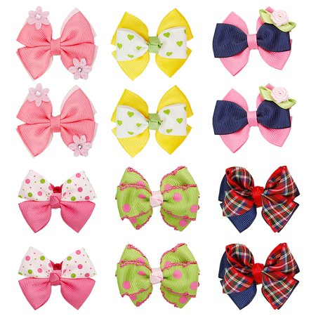 Bundle Monster - Bundle Monster 6 Pair Baby Girls Bows Flowers Ball  Ponytail Holder Hair Tie - Walmart.com dcd76a6b414