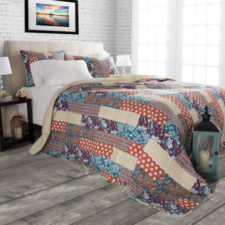 Somerset Home 3pc Cabin and Lodge Santa Fe Quilt Set ()
