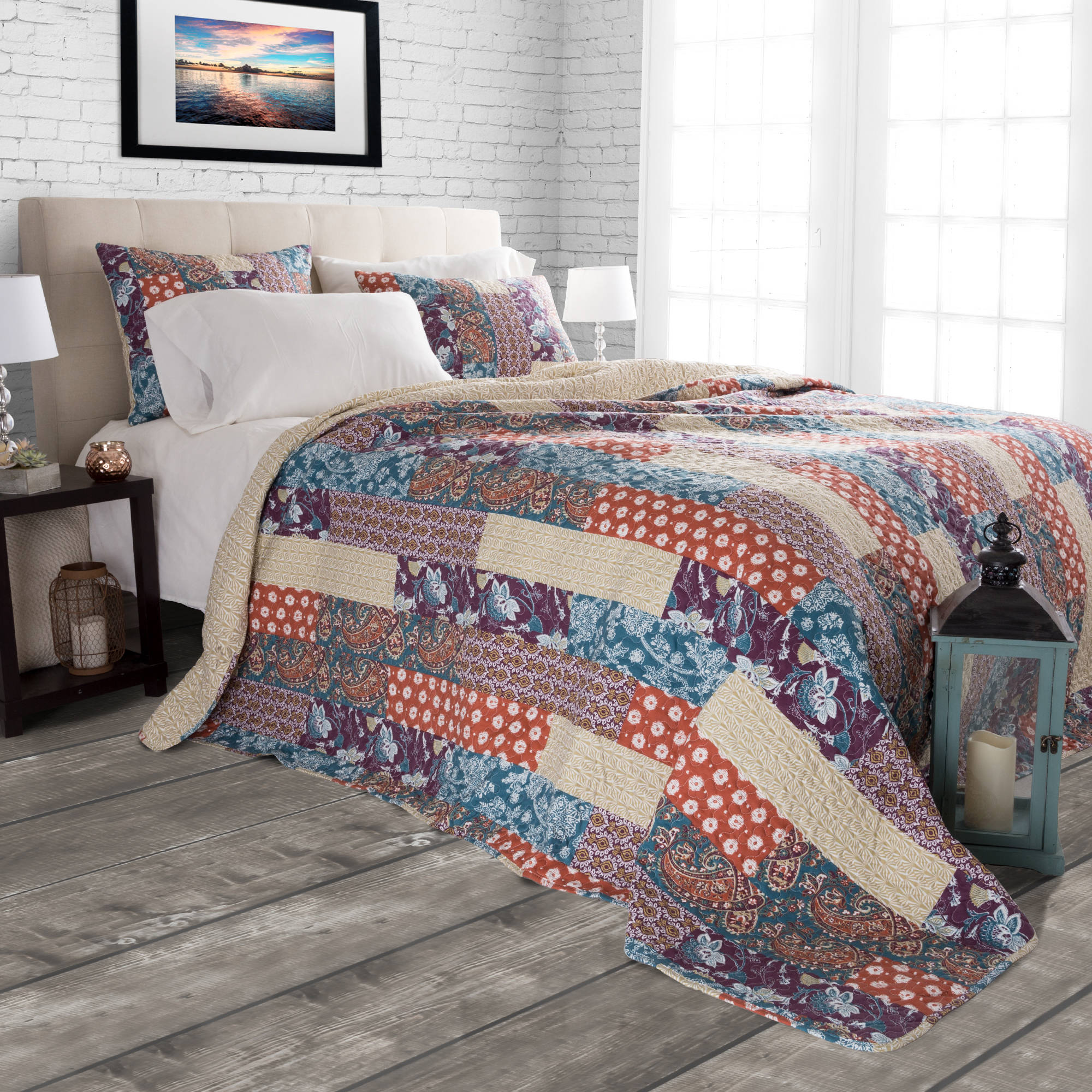 Somerset Home Quilt Set, Cabin and Lodge Santa Fe