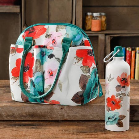 The Pioneer Woman Lunch Tote with Water Bottle
