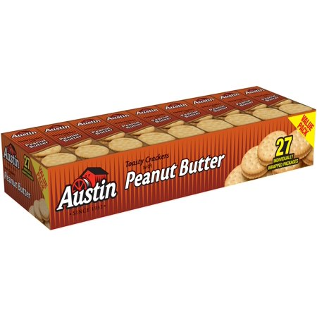 Austin Toasty Crackers  Peanut Butter 1 38 Oz 27 Count