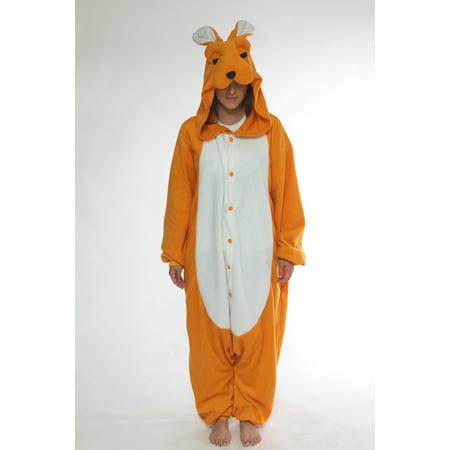 Adult Animal Costumes (BCozy Kigu Unisex Animal Costume Pajama Onsie Adult: Kangaroo)