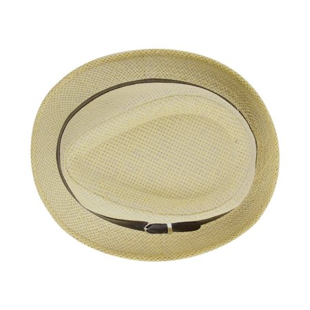 Stylish Hat Summer Straw Hat Cap Topee Fedora Trilby Panama Hat Cap Jazz Hat - image 8 de 8