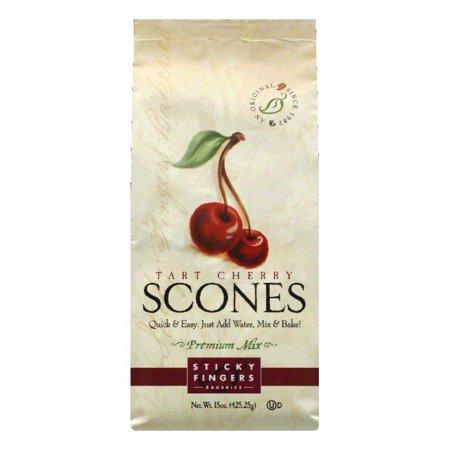 Cherry Scone Mix (Sticky Fingers Tart Cherry Scone Mix, 15 OZ (Pack of 6) )