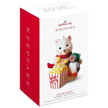 Hallmark Keepsake 2018 Snowball and Tuxedo Movie Night Ornament