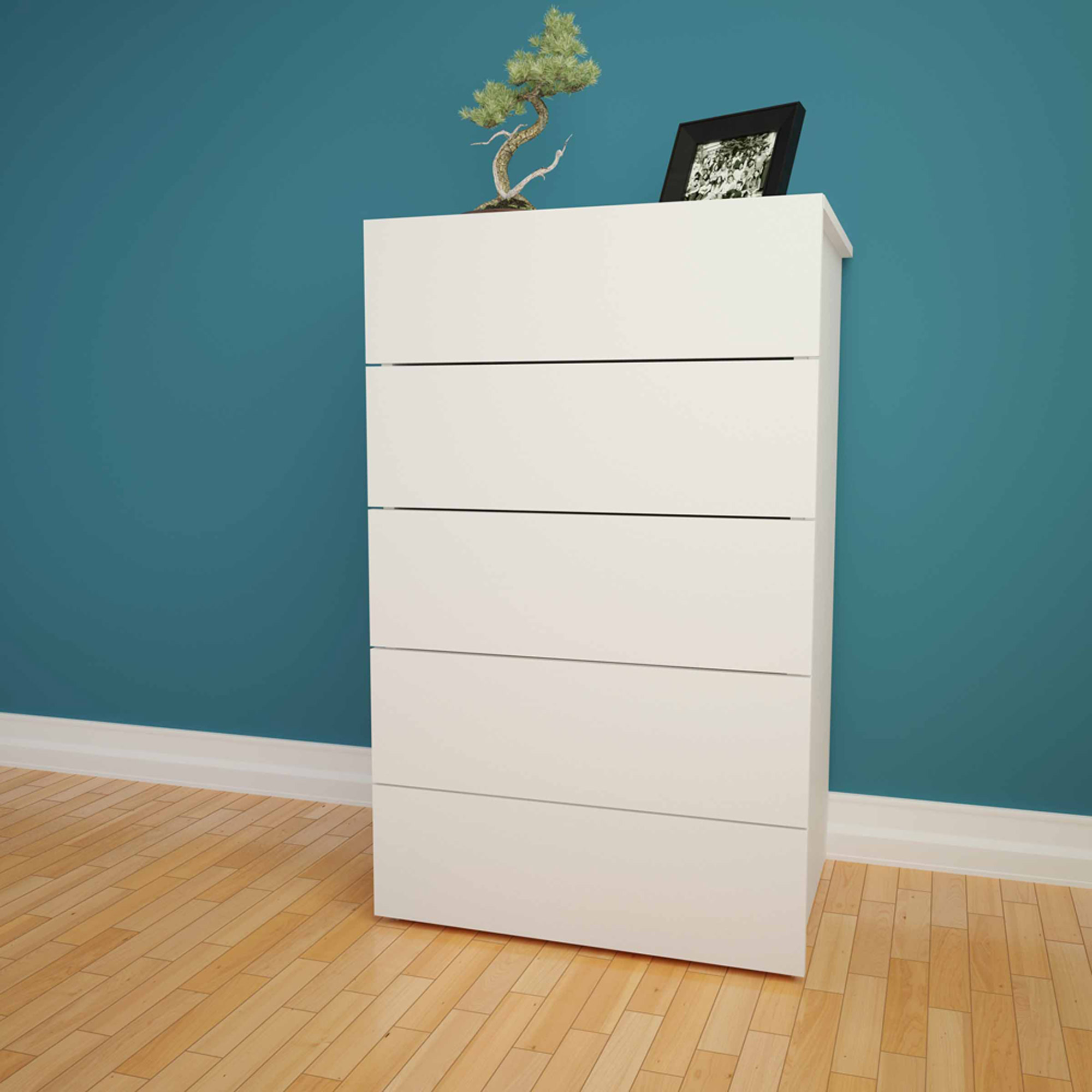 Nexera Taxi 5-Drawer Chest, White