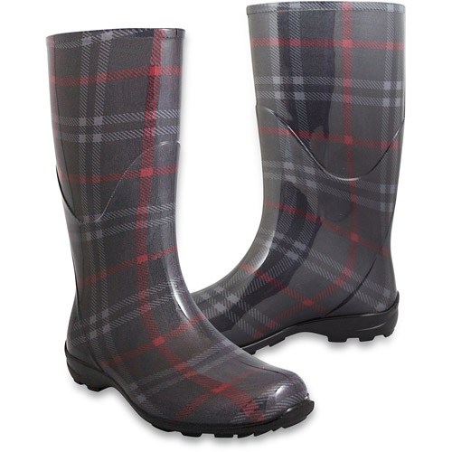 New Women39s Cosmo Plaid Rain Boots  Walmartcom