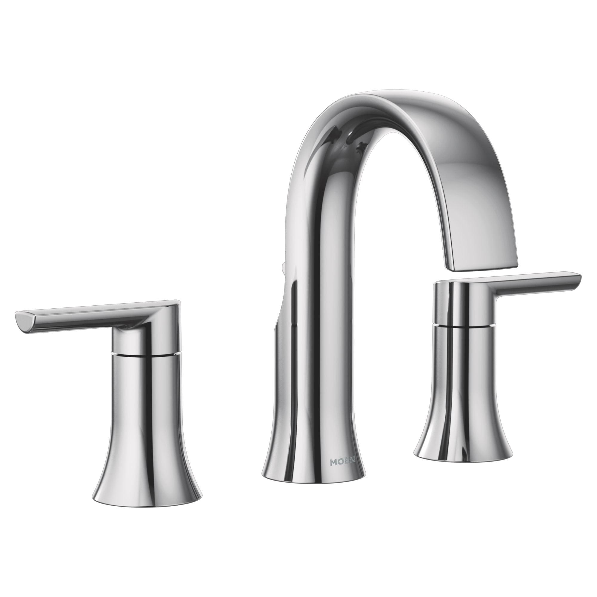 Moen Ts6925 Doux 1 2 Gpm Widespread, Moen Chrome Bathroom Faucet