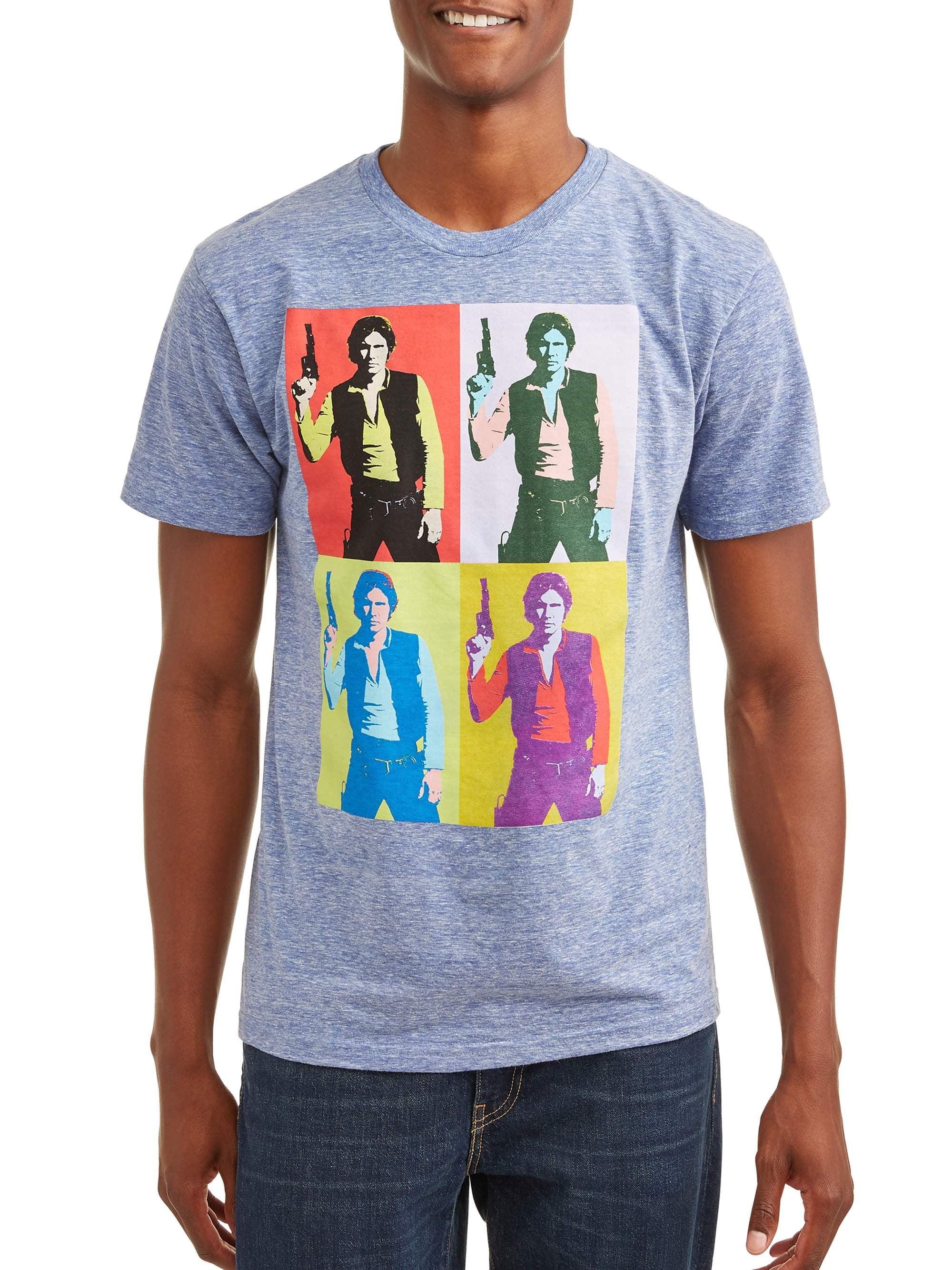 "Star Wars Men's ""Han Solo Silkscreen"" Short Sleeve Graphic T-Shirt, up to Size 2XL"