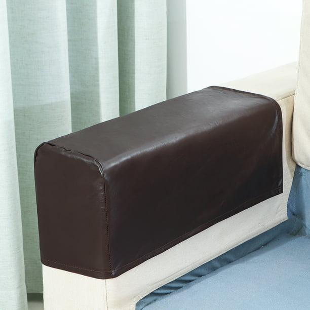 Elastic 2pc Set Pu Leather Sofa Covers, Leather Furniture Arm Protectors