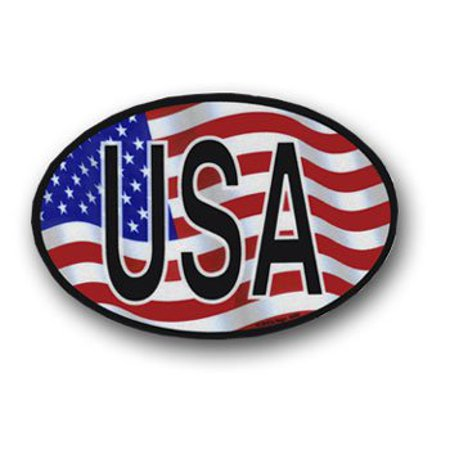 USA Wavy Oval Decal -