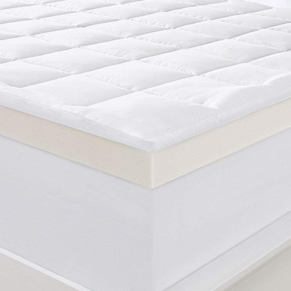 "Serta 4"" Pillow-Top and Memory Foam Mattress Topper, King ..."