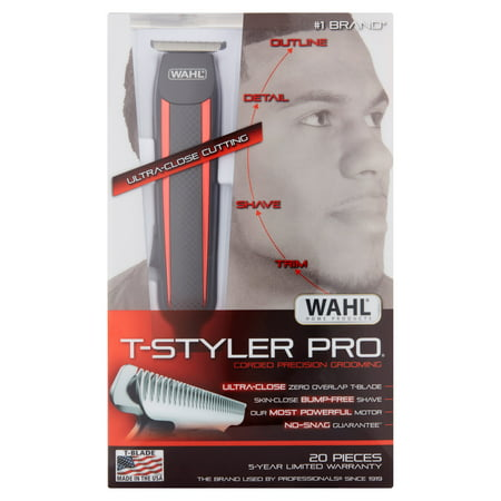 Wahl Edge Pro Men's Corded T-Blade Groomer for Bump Free Grooming Trimming & Shaving - 9686-300