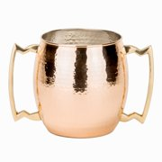 Old Dutch Hammered Solid Copper 3-quart 2-handled Jumbo Mug