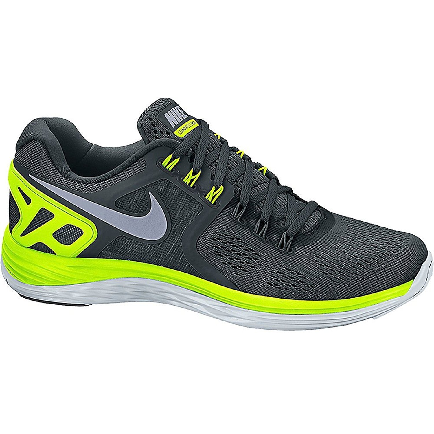 Nike Men's Lunar Eclipse 4 Running Shoes Running Green/Silver Color Size 11.5