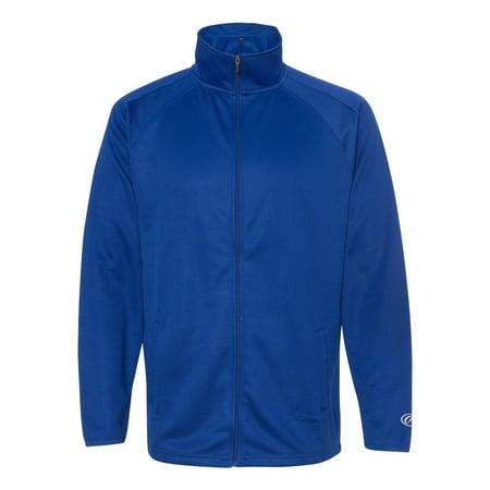 Rawlings 9761 Full-Zip Flatback Mesh Fleece Jacket Baseball Mesh Vest