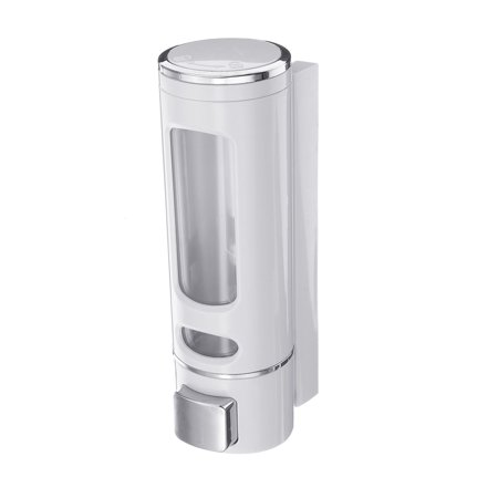 400ml Wall Mounted Soap Sanitizer Bathroom Shower Shampoo Dispenser Lotion Pump Action For Hotel And Home - image 4 de 7