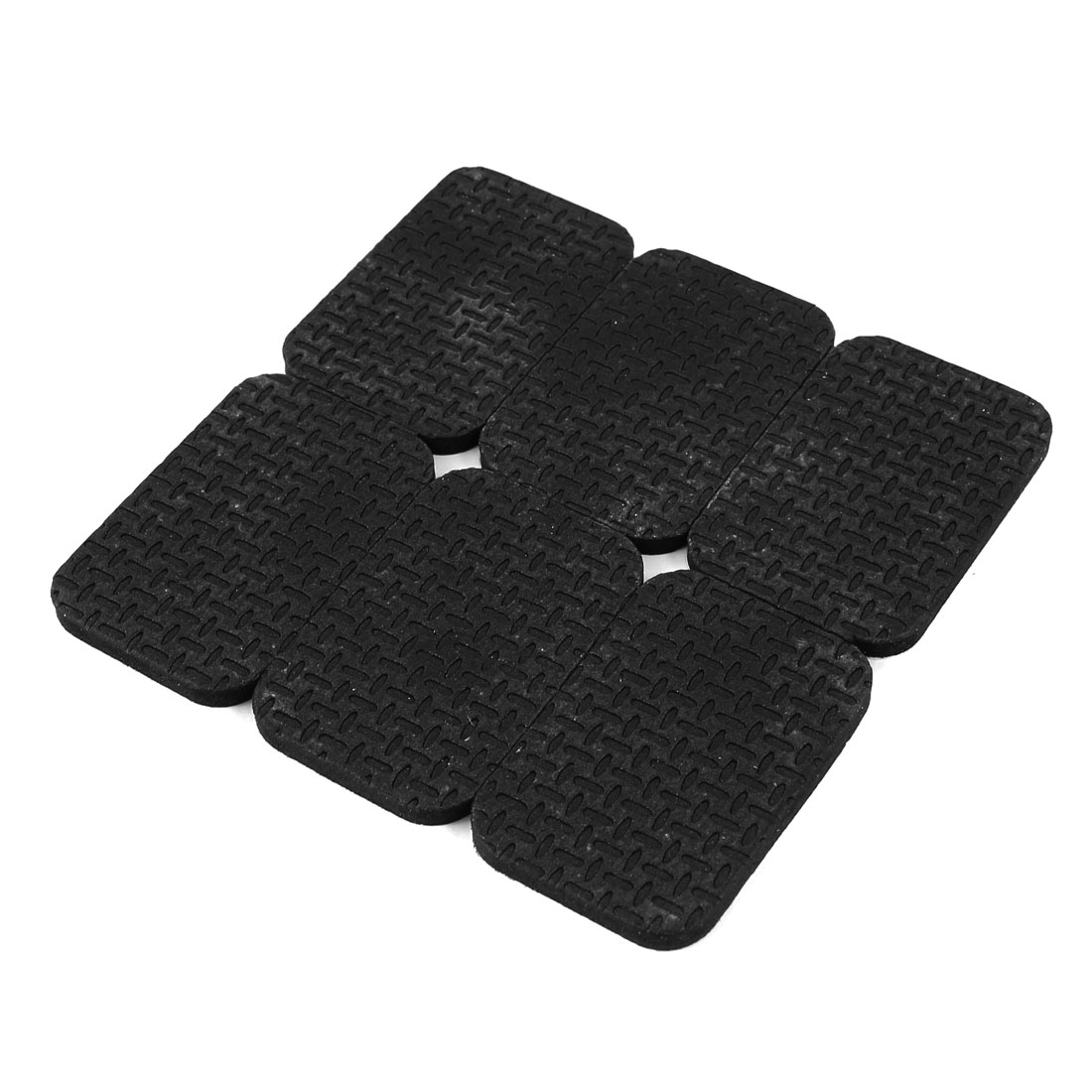 Unique Bargains 6 Pcs Rubber Rectangle 30mm x 45mm Adhesive Chair Foot Cover Table Furniture Leg Protector Balck