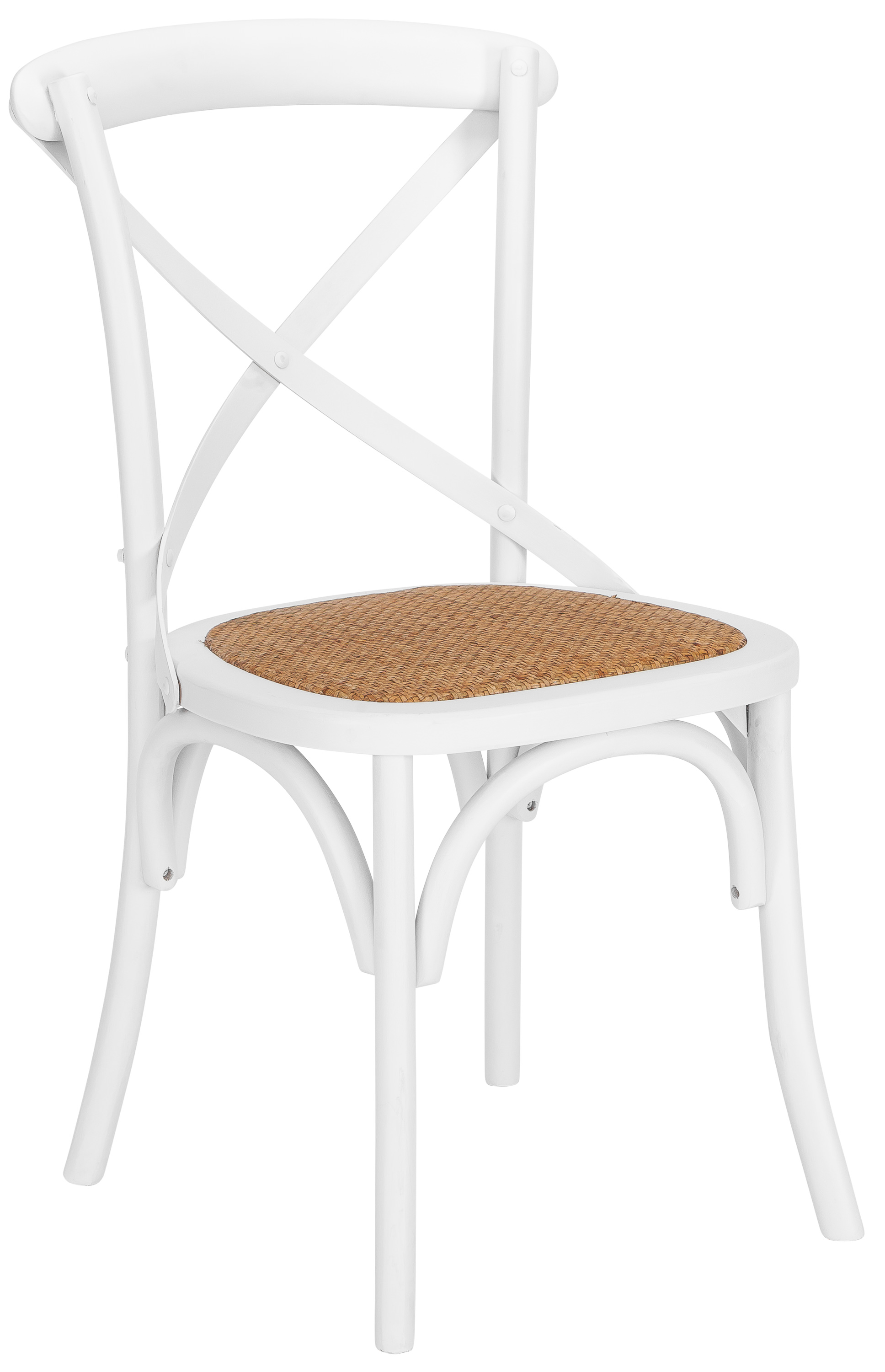 Poly And Bark Cafton Crossback Chair In White   Walmart.com