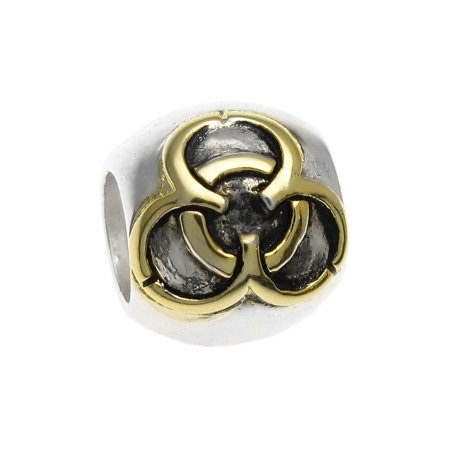 Queenberry Sterling Silver Love Knot Gold-Tone European Style Bead Charm Fits Pandora