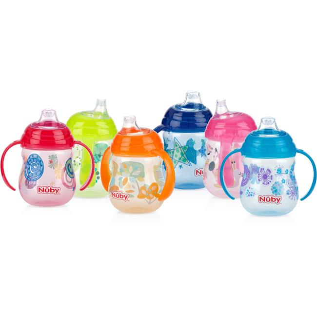 Nuby 1997413 No-Spill Clik-It 2-Handle Trainer Cup - Case of 48