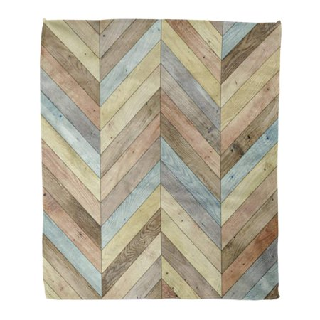 - ASHLEIGH Throw Blanket Warm Cozy Print Flannel Colorful Arrow Wood Parquet Chevron Various Ash Beechwood Floor Flooring Game Comfortable Soft for Bed Sofa and Couch 50x60 Inches
