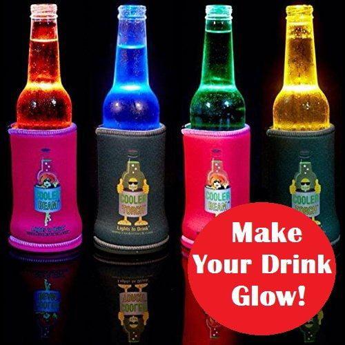 Cooler Torch Lighted Bottle Koozie. Make your drink Glow! Choose your Color
