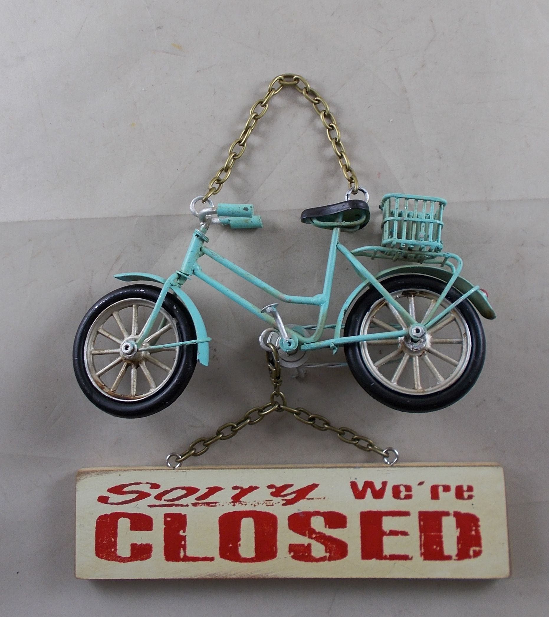 Vintage Looking Bicycle Open Closed Business Shop Sign Walmart Com