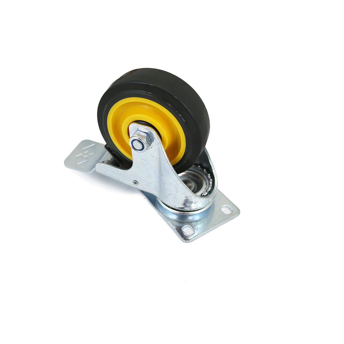 4 Pack Beach Chair Swivel Caster Rubber Wheel Steel Top Plate Ball Bearings US