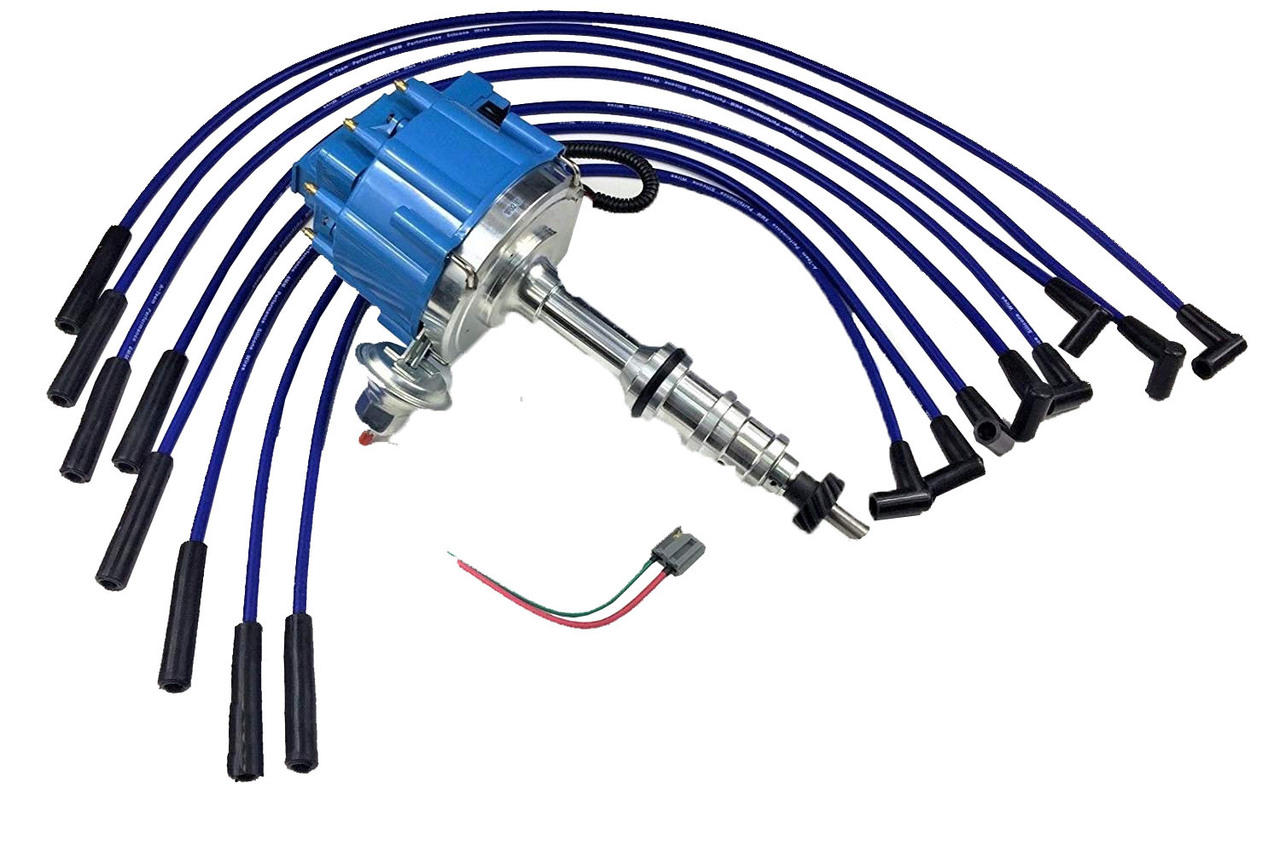 FORD FE 332 352 360 390 406 427 428 BLUE HEI Distributor + 8mm SPARK Hei Distributor For Ford Wiring Diagram on