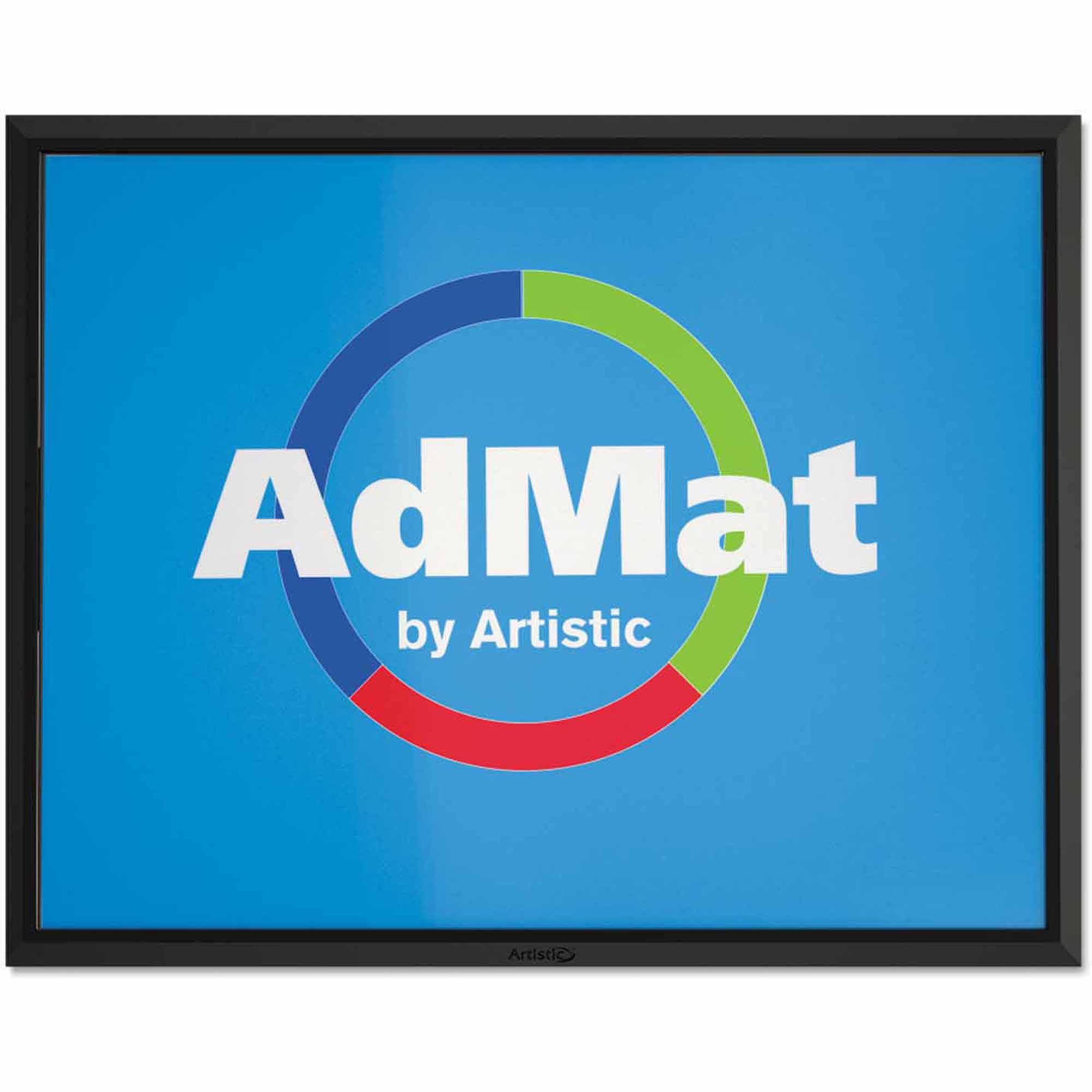 "Artistic 8-1/2"" x 11"" AdMat Countertop Mat, Black"