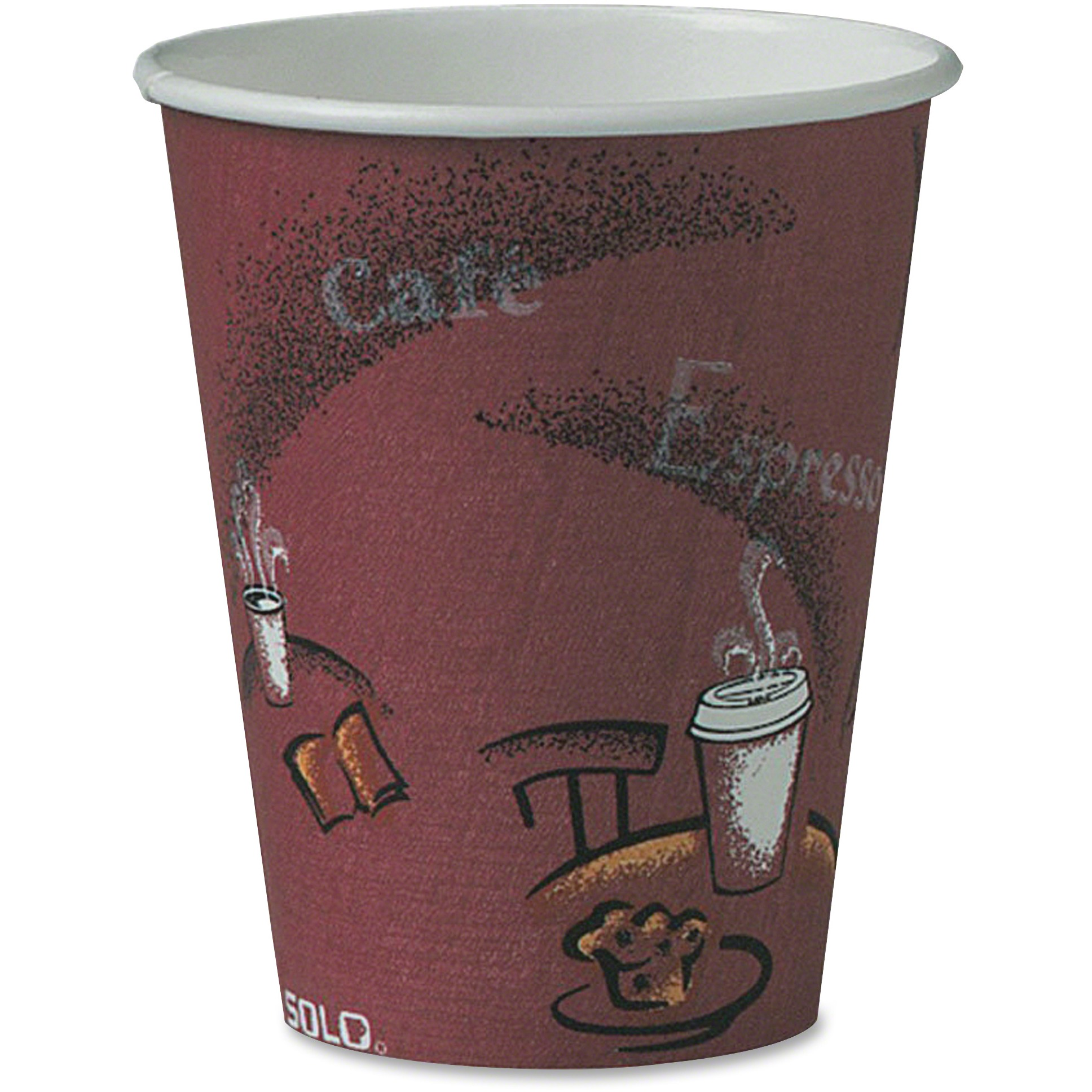 Solo Cup Solo Cup Bistro Design Disposable Paper Cups -SCC378SICT