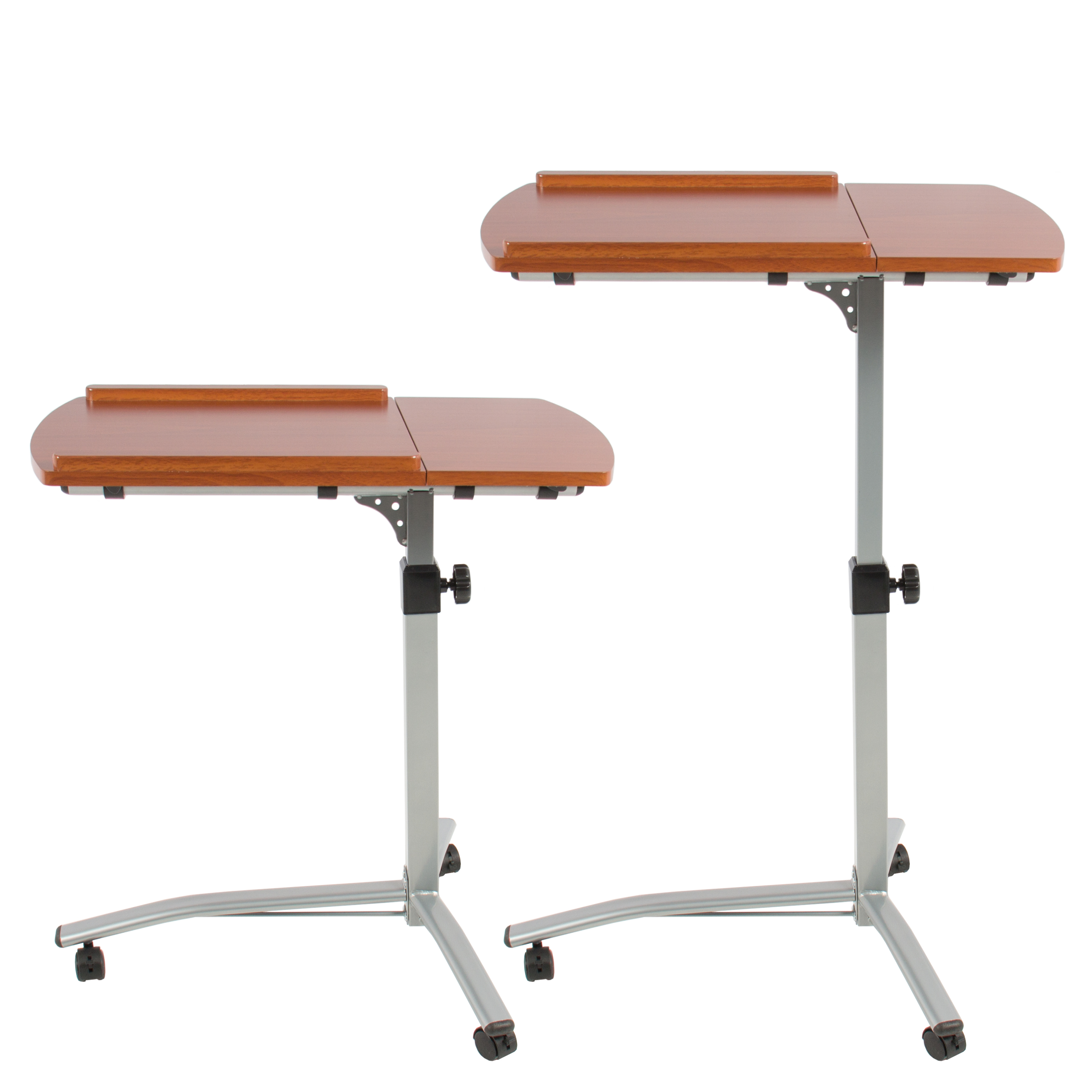 angle u0026 height adjustable rolling laptop desk cart over bed hospital table stand walmartcom