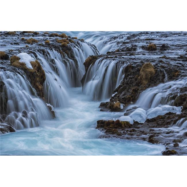Posterazzi DPI12275971 Turquoise Water Flowing Over Rocks Into A River - Bruarfoss Iceland Poster Print - 19 x 12 in. - image 1 of 1