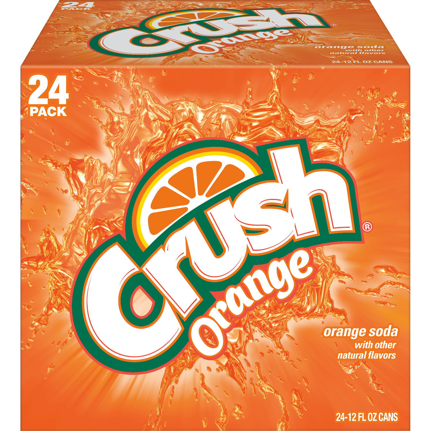 Crush Orange Soda, 12 fl oz, 24 pack