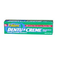 Polident Dentu Creme Denture Cleansing Toothpaste - 3.9 Oz, 2 Pack