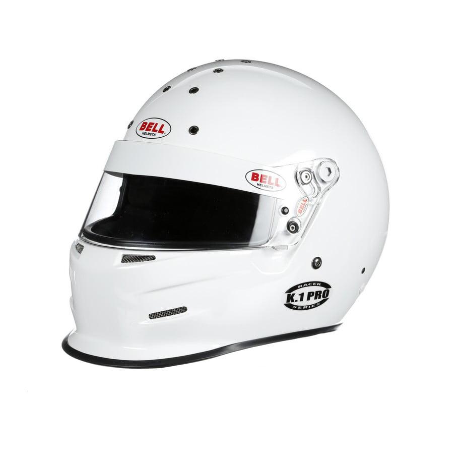 Bell Helmets Medium White Racer Series K-1 Pro Helmet P/N...