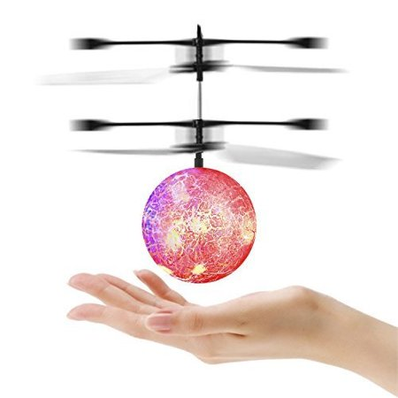 Flying Ball, YKS Children Flying Toys, RC infrared Induction Helicopter Ball Builtin Shinning Color Changing LED Lighting for - Remote Control Flying Halloween Props