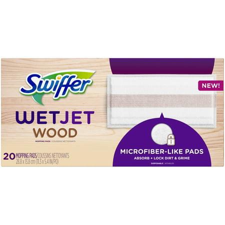 Swiffer Wetjet Wood Floor - Swiffer WetJet Wood Mopping Pad Refills, 20 Count