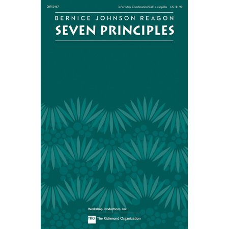 TRO ESSEX Music Group Seven Principles 3-PT by Sweet Honey In The Rock composed by Bernice Johnson Reagon