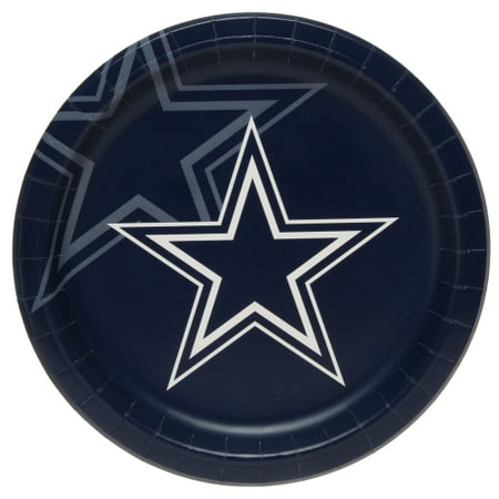 Dallas Cowboys 8-Pack Dinner Plates - No - Halloween Dallas Party 2017