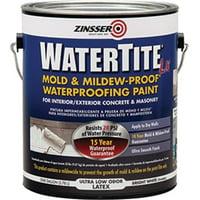 Zinsser Company 270267 1 Gallon Watertite-lx Latex Waterproofing Paint 100 VOC