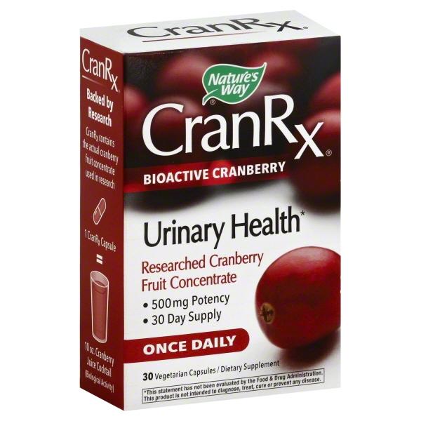 Natures Way CranRx Bioactive Cranberry Vegetarian Capsules/Dietary Supplement, 30 count